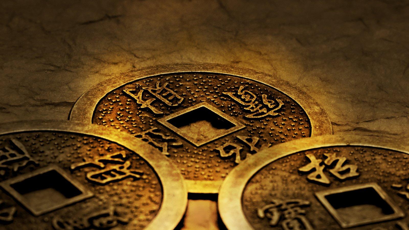 3 moedas de i-Ching