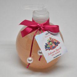 Sabonete Líquido de Frutos Vermelhos em frasco redondo transparente